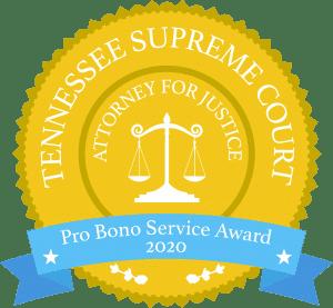Tennessee Supreme Court Pro Bono Service Award